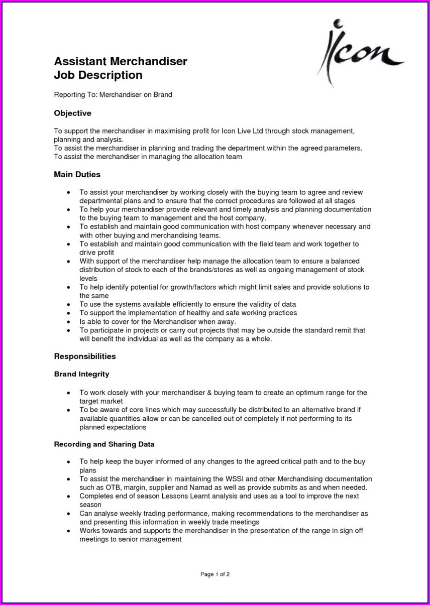 Sample Resume Retail Sales Merchandiser