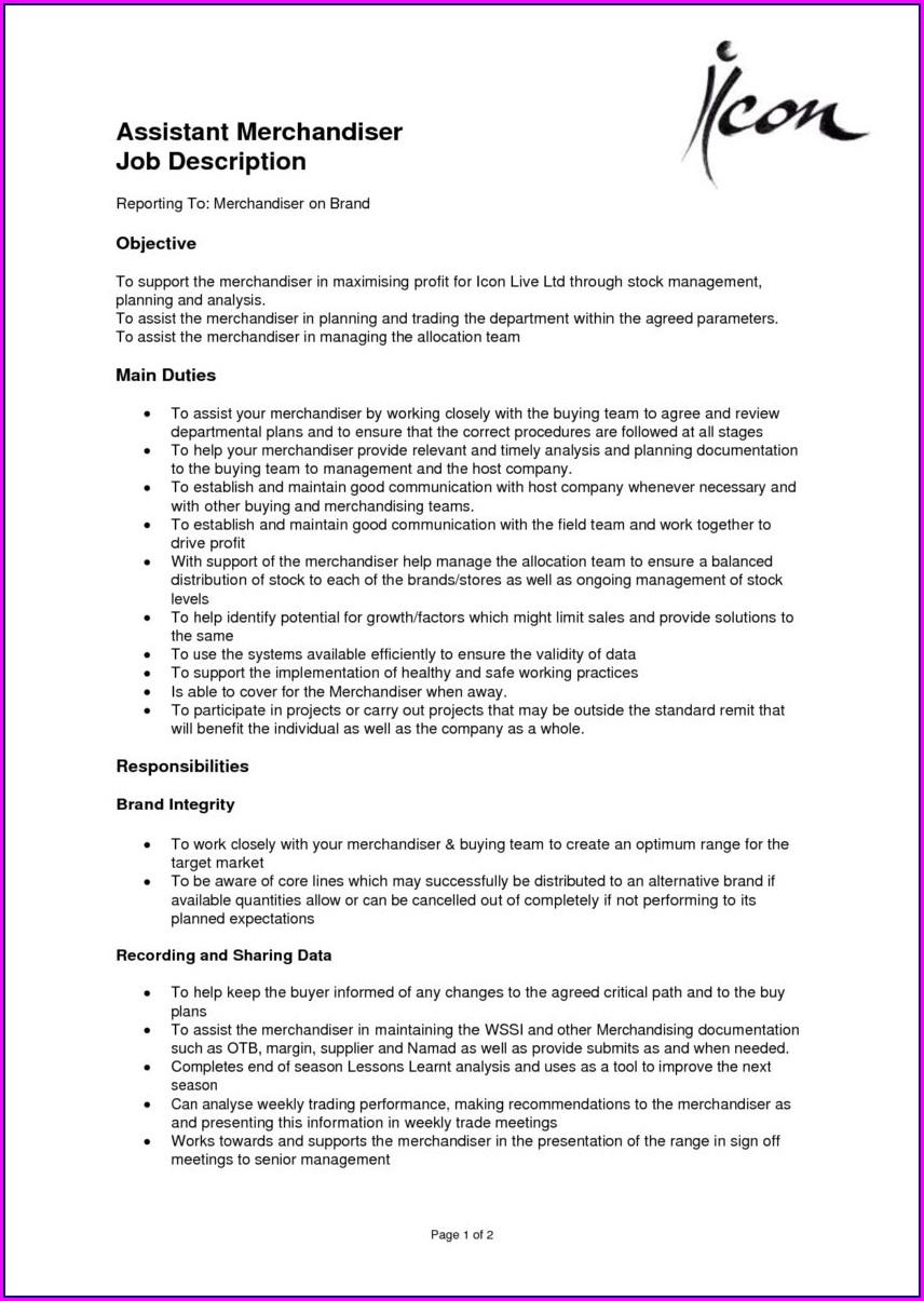 Sample Resume Retail Sales Merchandiser