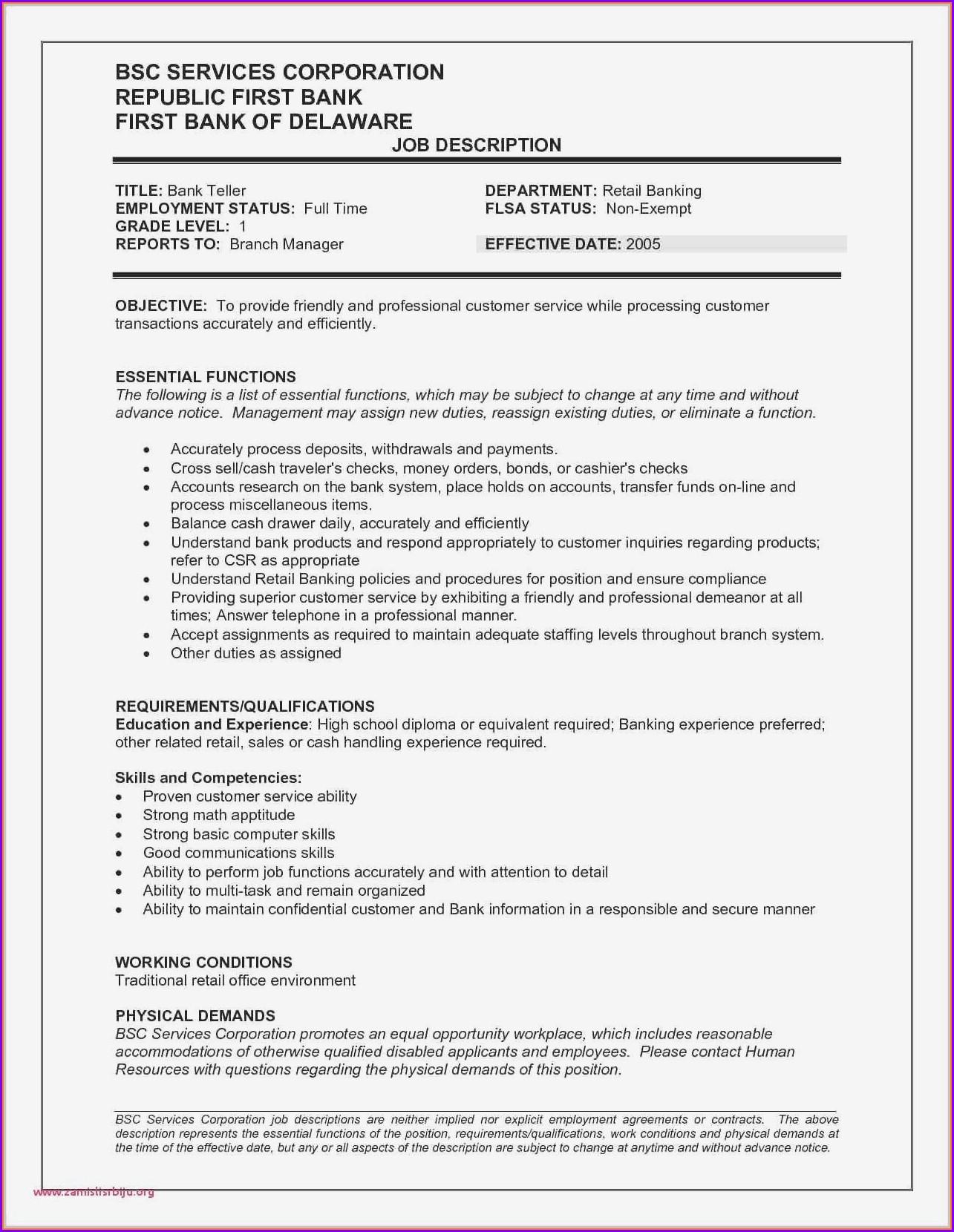 Sample Resume Warehouse Skills List