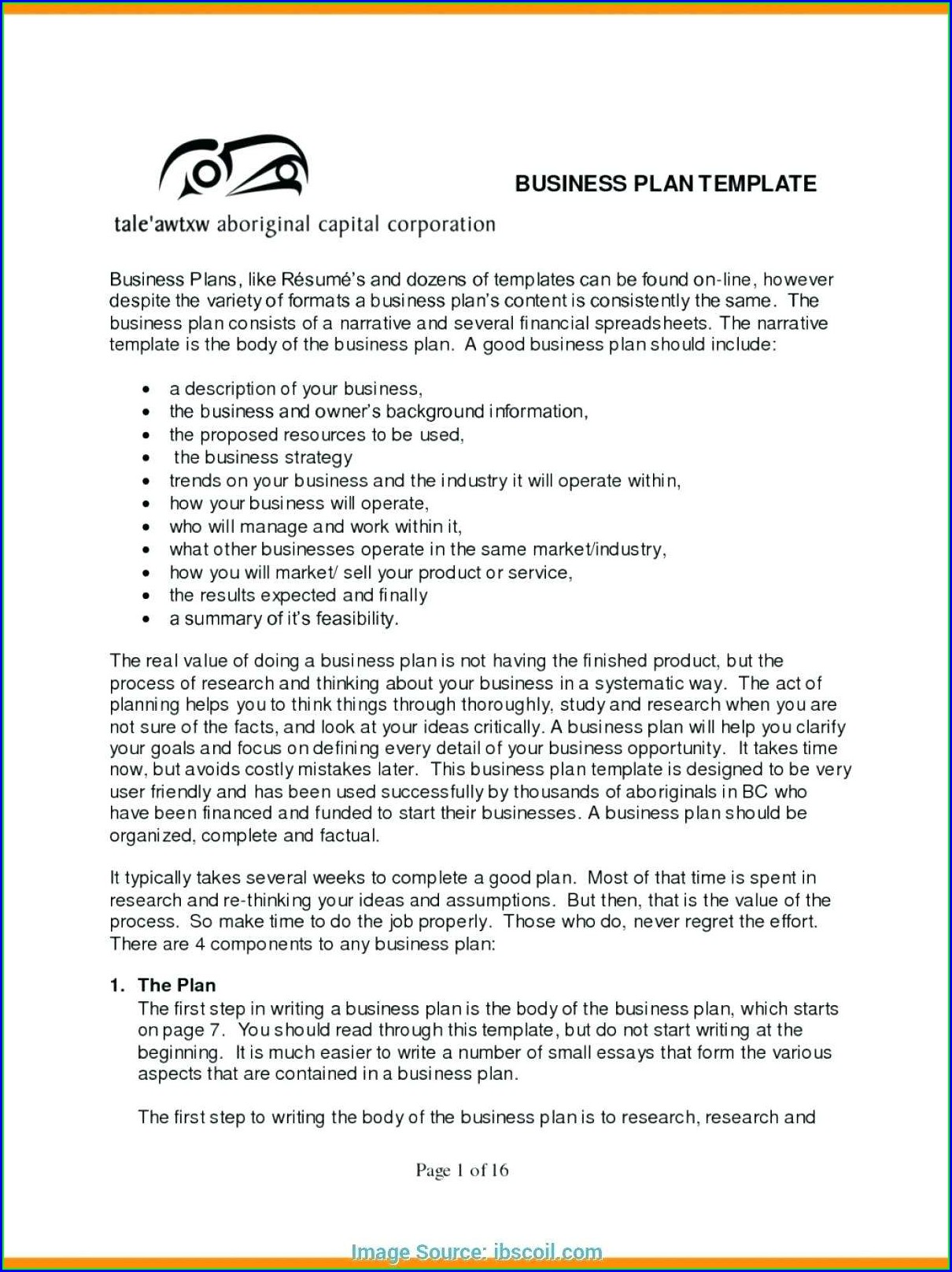 Sba Business Plan Template Pdf