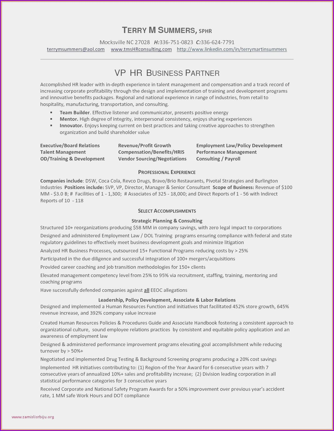 Senior Event Manager Resume Sample