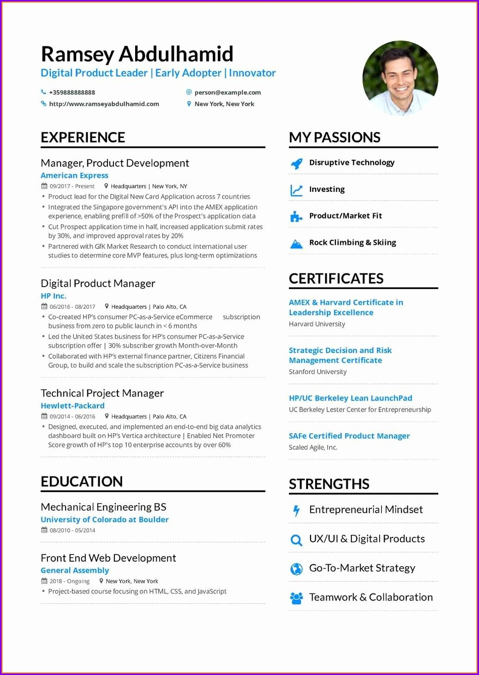 Senior Product Manager Resume Examples