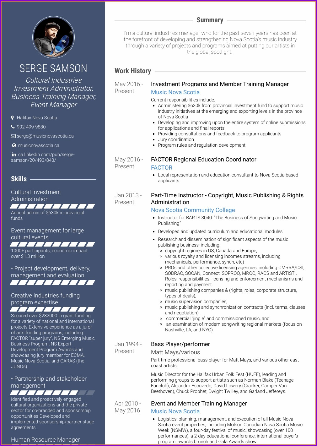 Senior Training Manager Resume Sample