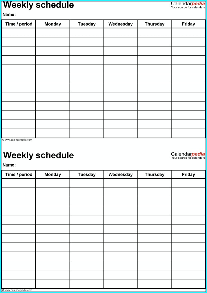 Simple Employee Schedule Template Free