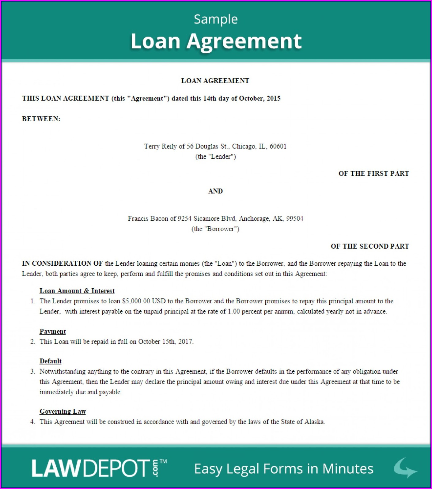 Simple Equipment Loan Agreement Template Uk