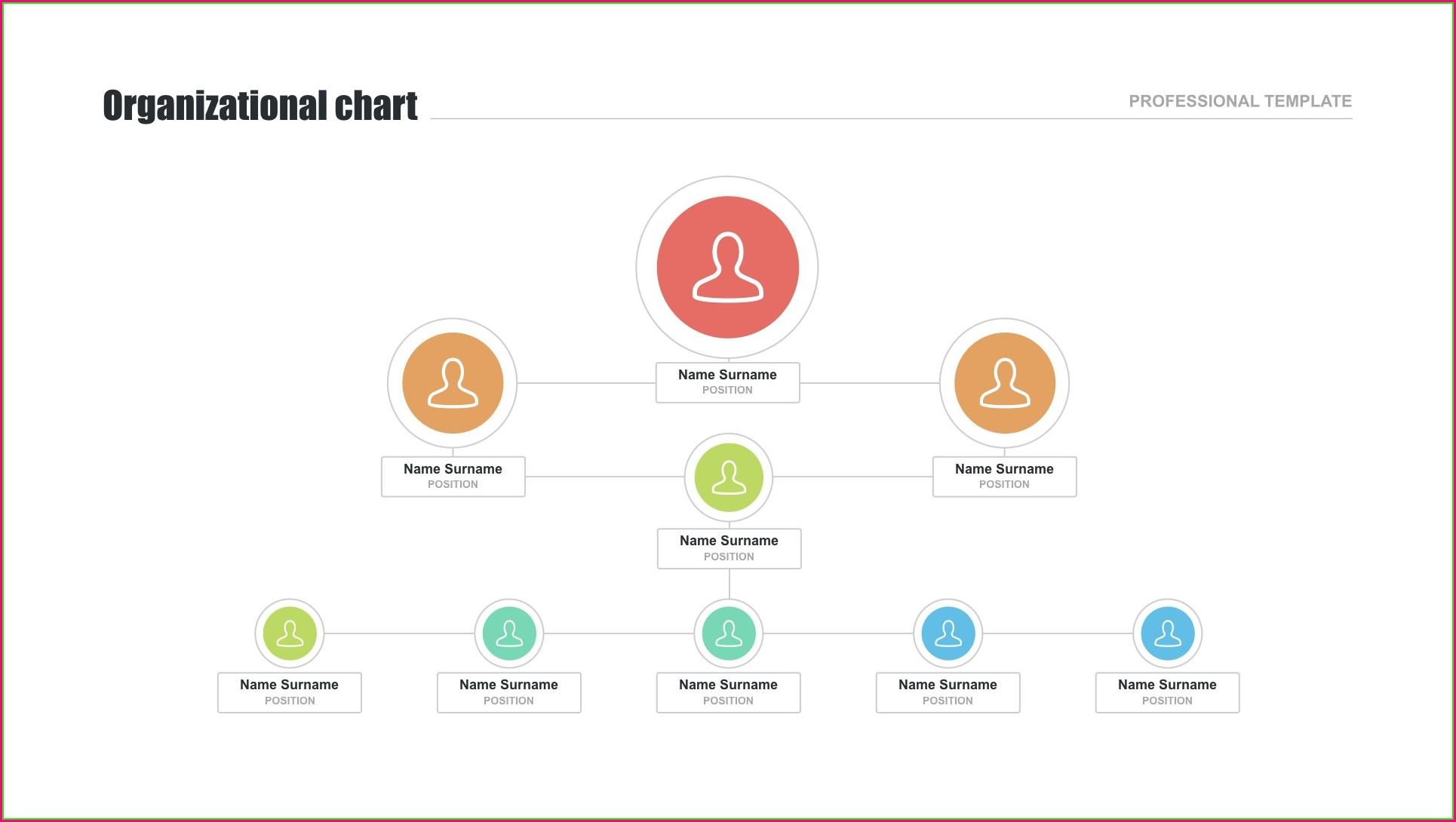 Simple Organizational Chart Template Free