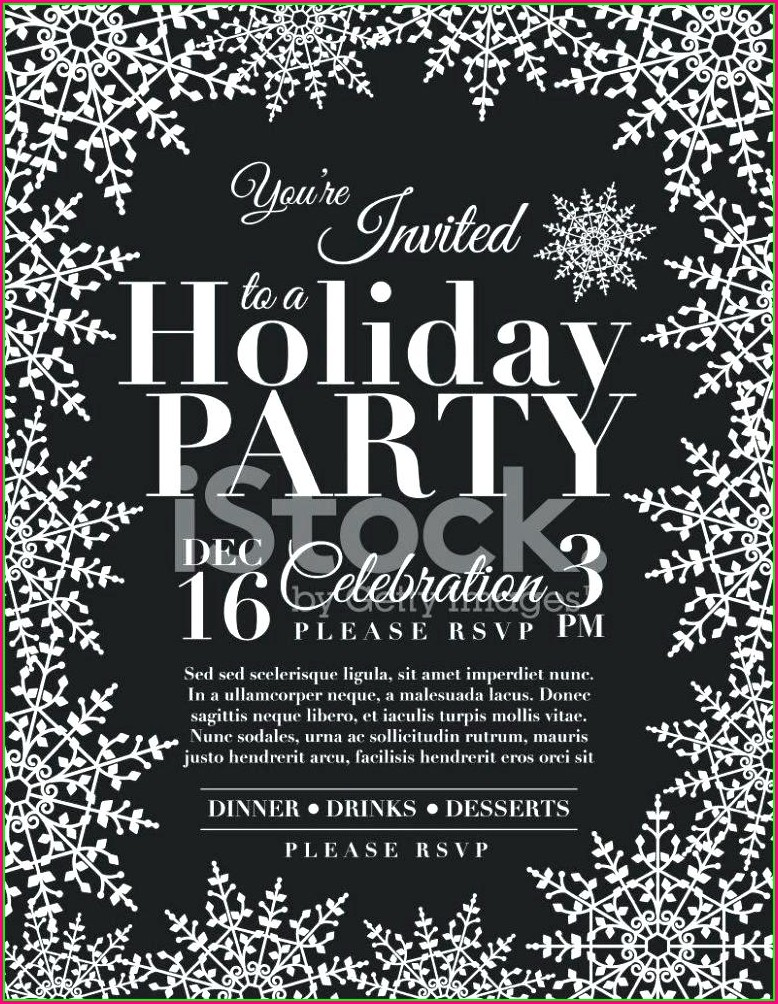 Snowflake Invitation Template Word