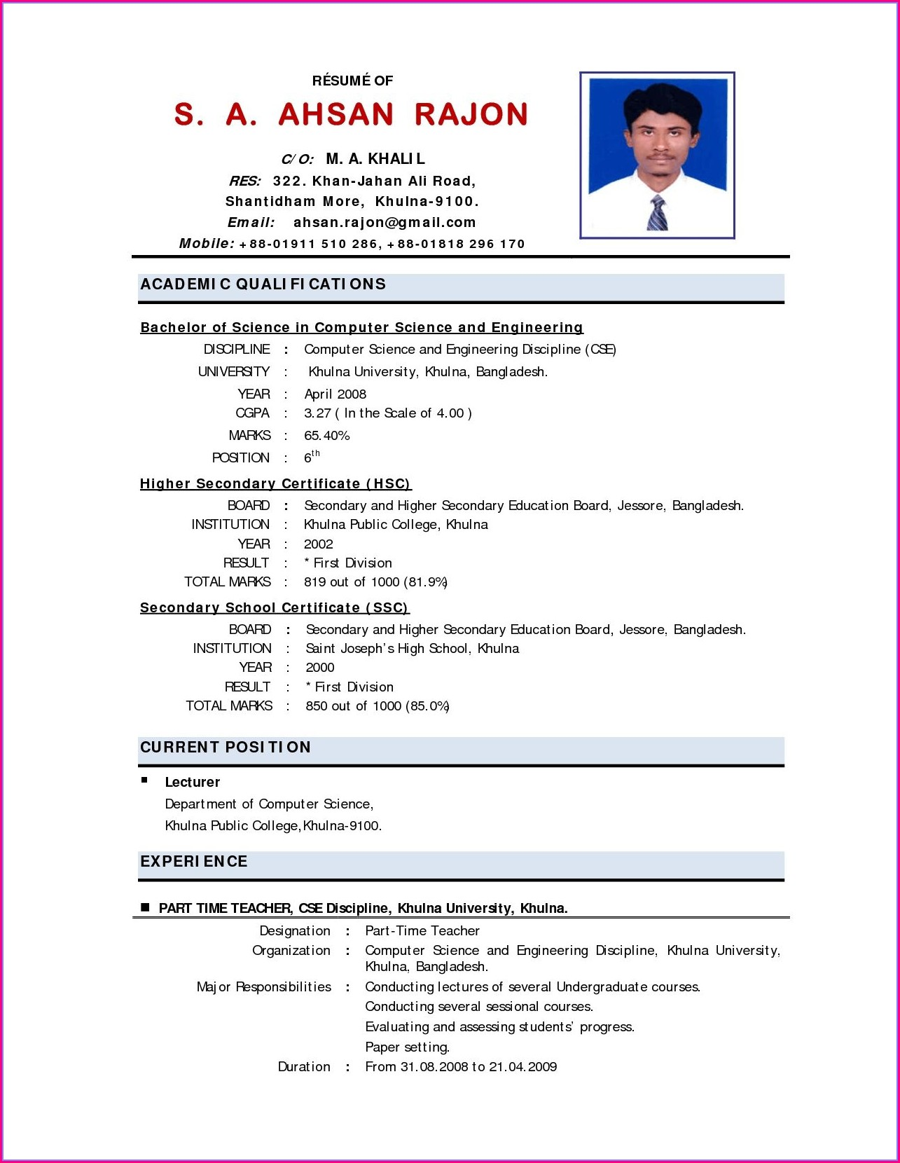 Social Work Resume Templates Free