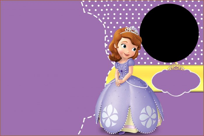 Sofia The First Birthday Invitation Card Template Free