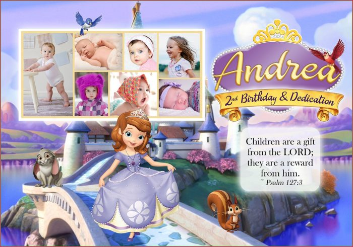 Sofia The First Invitation Template Editable Free
