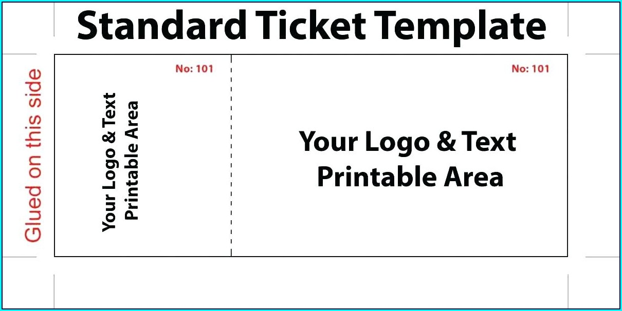 Sporting Event Ticket Template Word Templates-2 : Resume