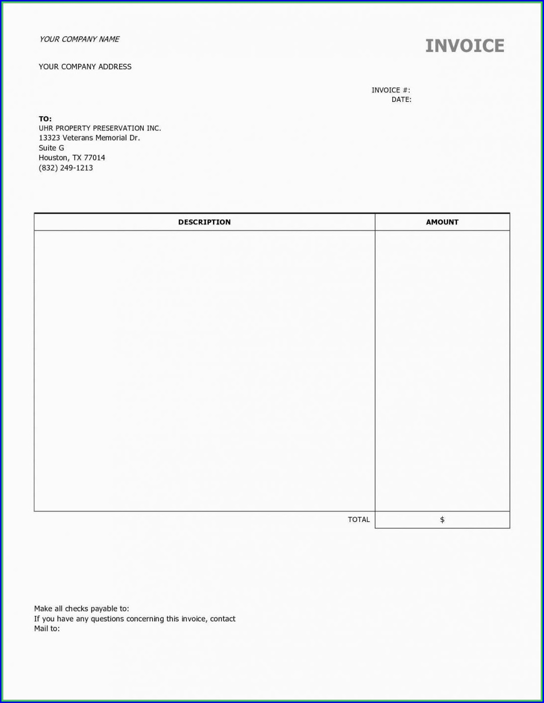 Subcontractors Contract Template