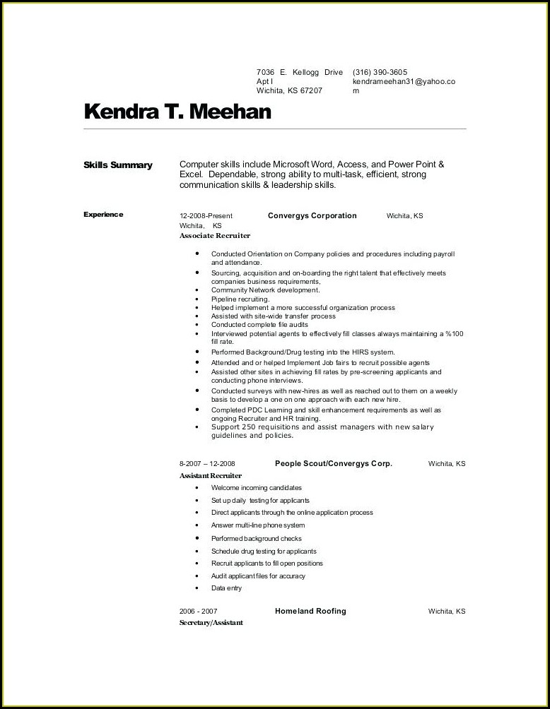 Surgical Tech Resume Template No Experience