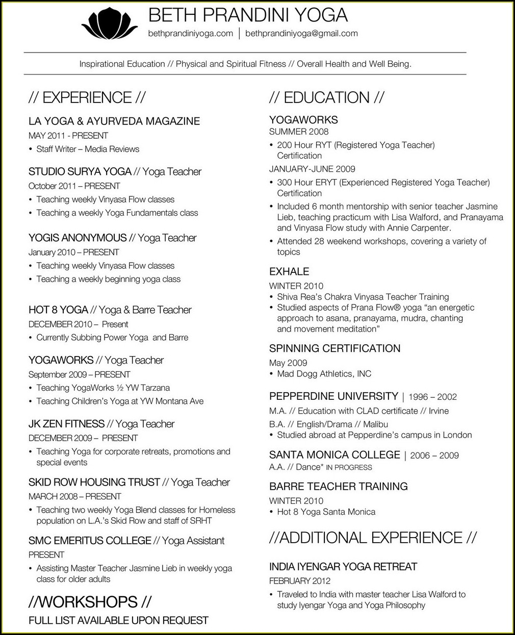 Teacher Cv Template Free