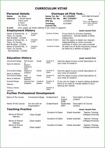 Teacher Resume Format Free Download