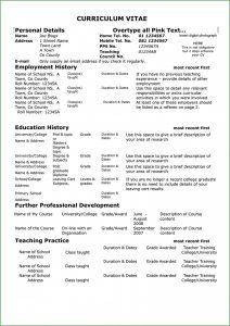 Teacher Resume Format Free Download