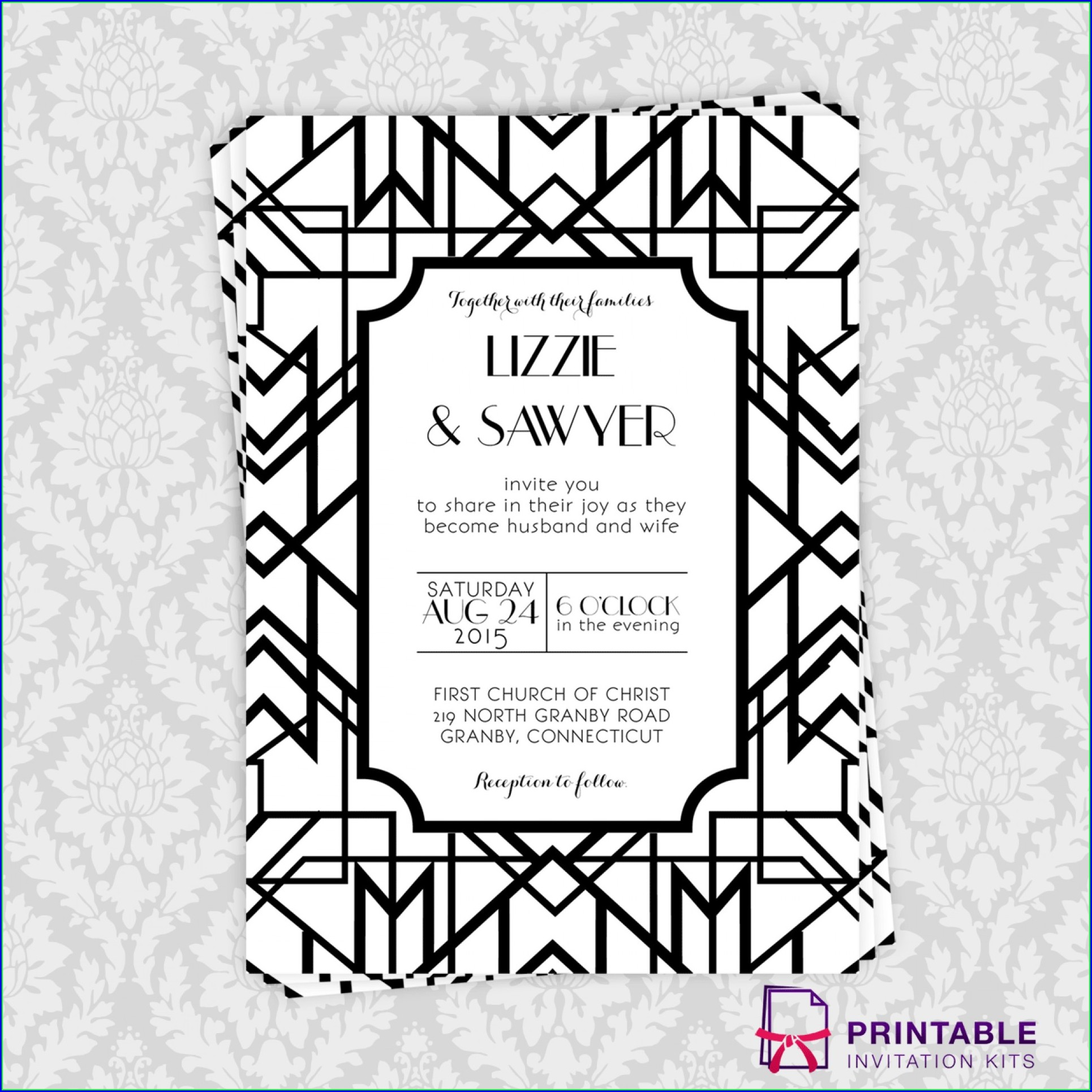 Template Free Blank Great Gatsby Invitation Template