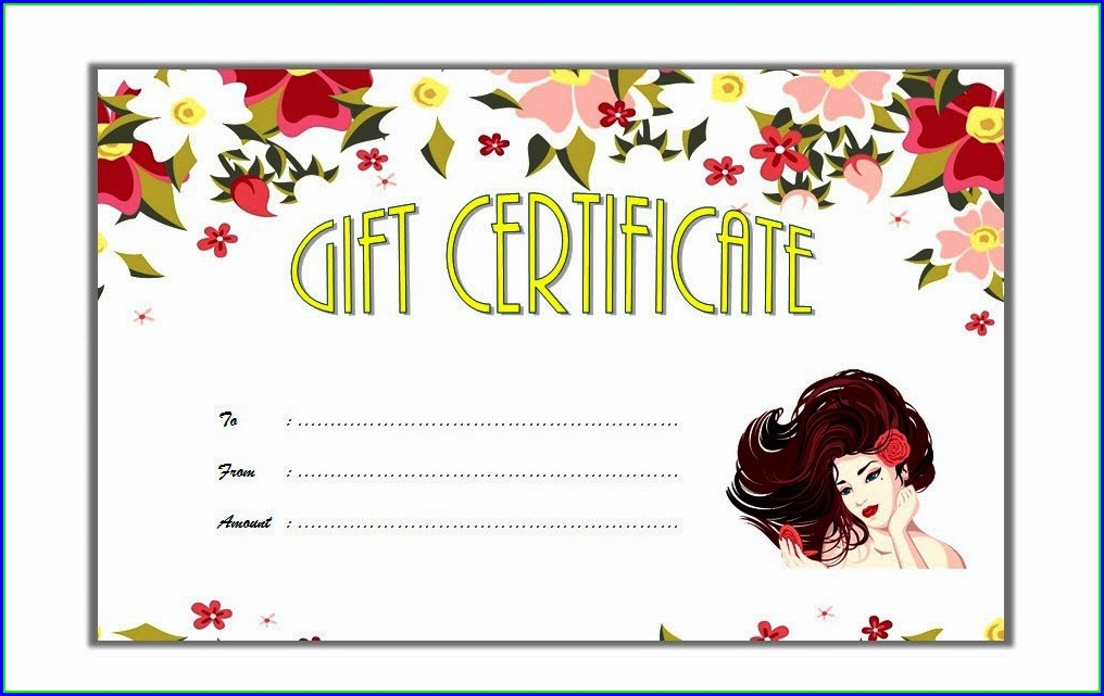 Template Free Printable Hair Gift Certificate