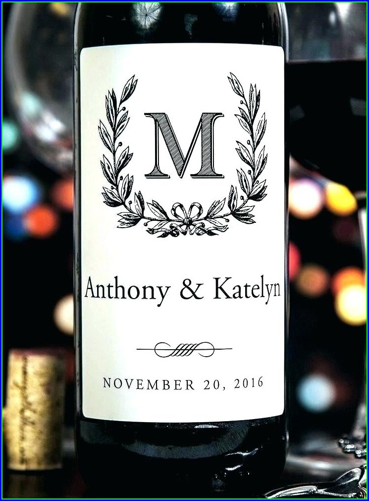 Template Free Printable Wine Labels With Photo