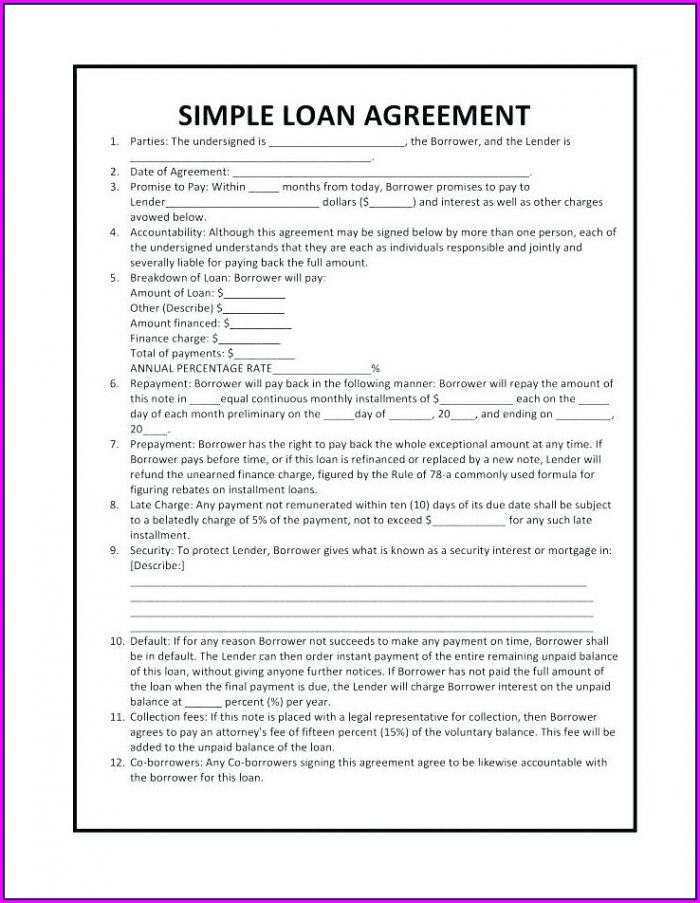 Template Of Promissory Note