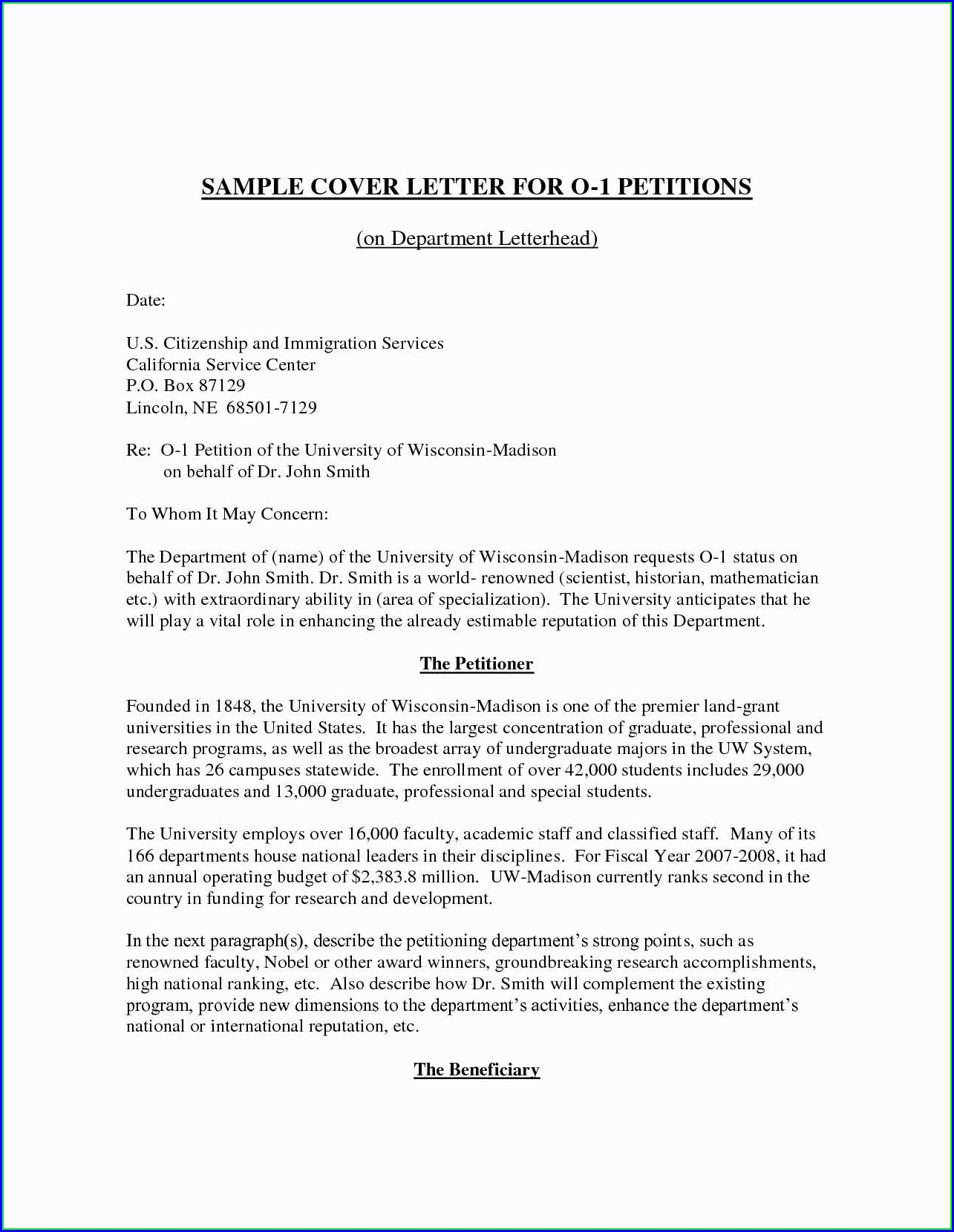 Templates For Petitions