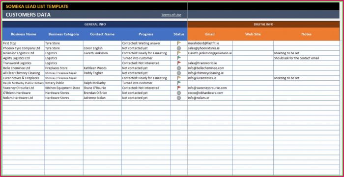 Tracking Spreadsheet Excel Sales Tracking Template
