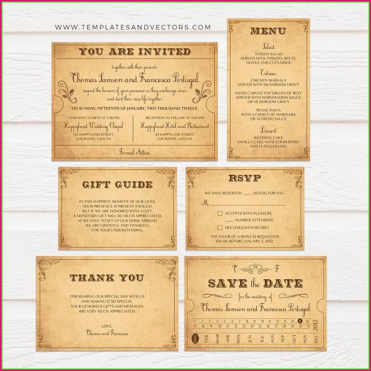 Train Ticket Wedding Invitation Template