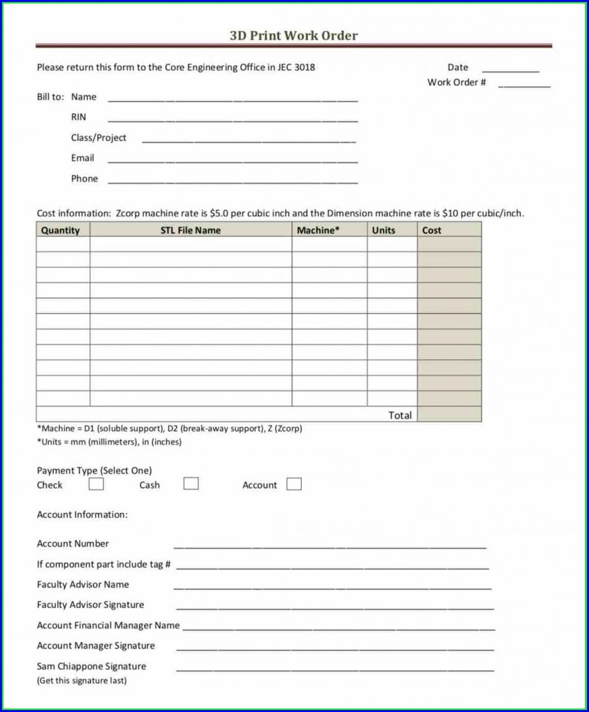 Vehicle Purchase Order Template Pdf