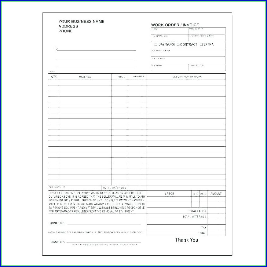 Vehicle Purchase Order Template