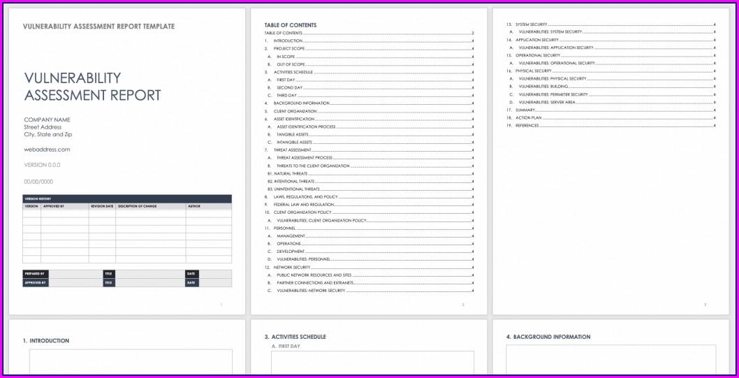 Vulnerability Assessment Report Template