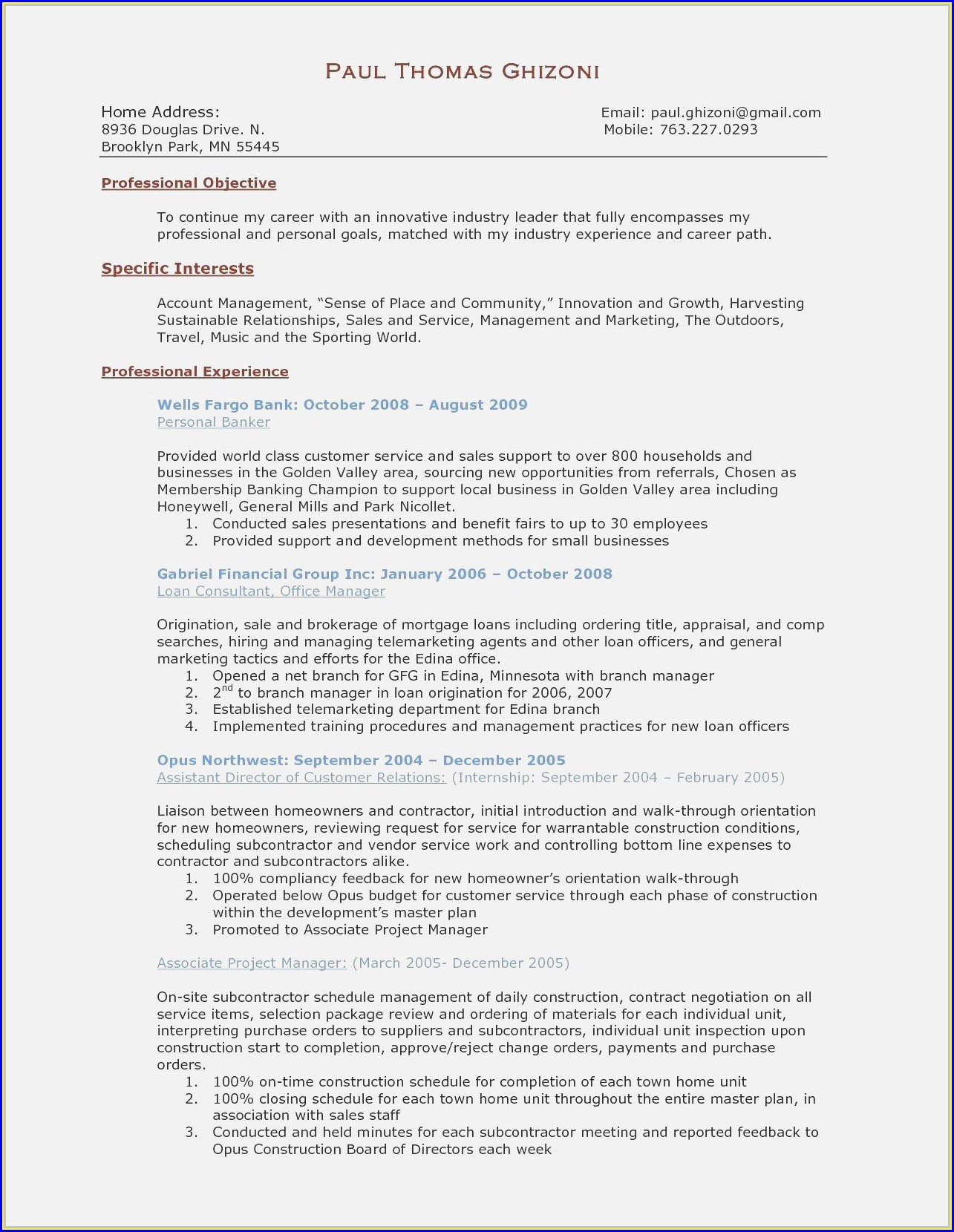 Warehouse Executive Resume Sample Pdf