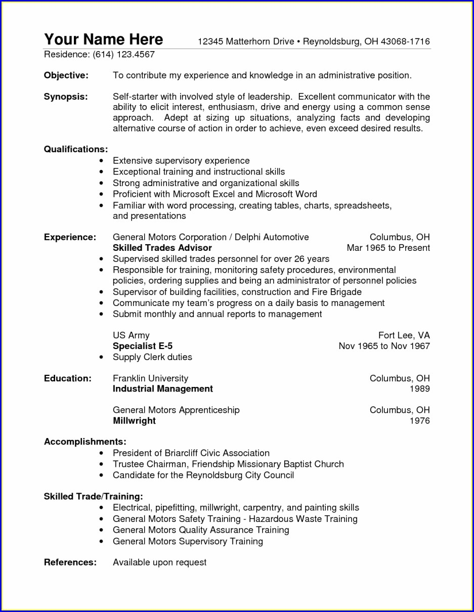 Warehouse Supervisor Experience Resume Sample