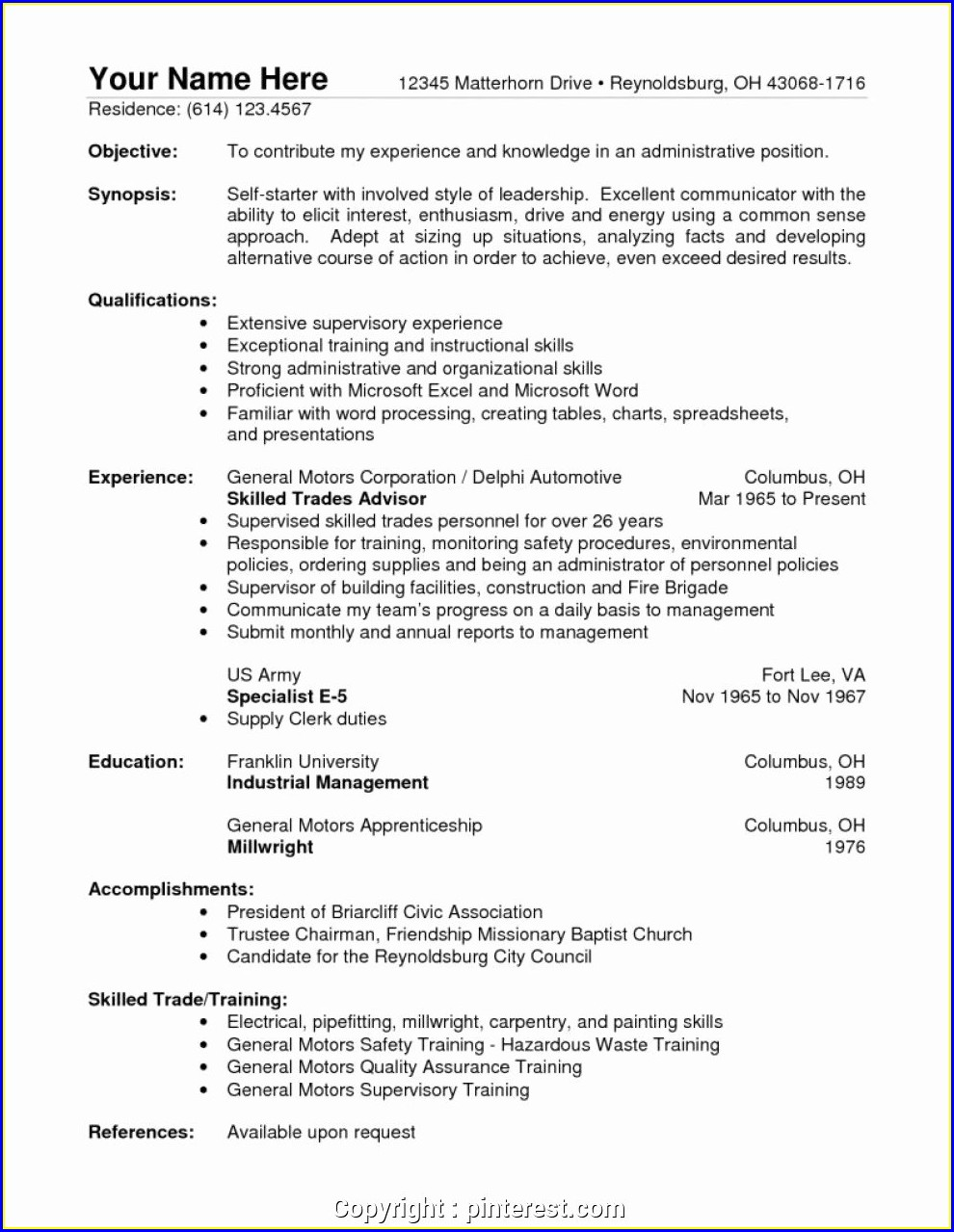 Warehouse Supervisor Job Description Resume Sample