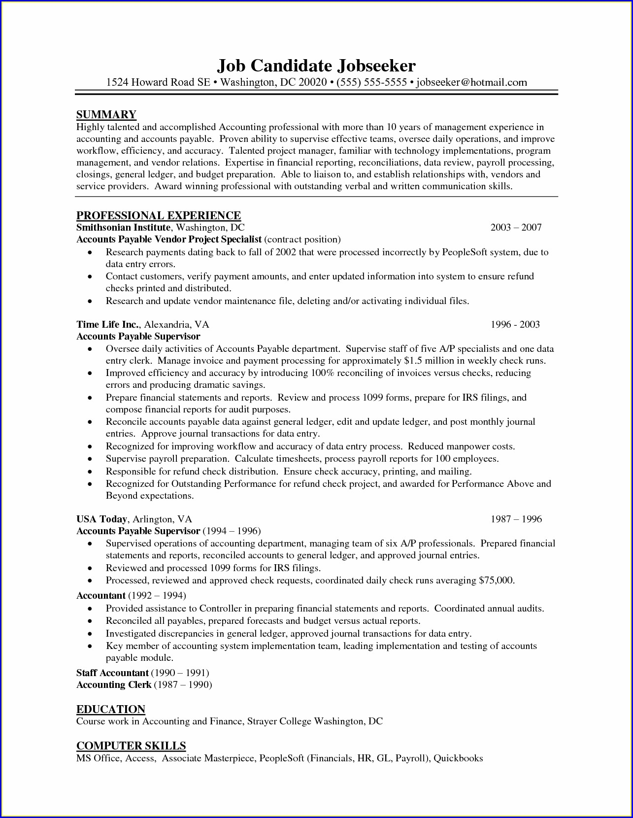 Warehouse Supervisor Resume Examples
