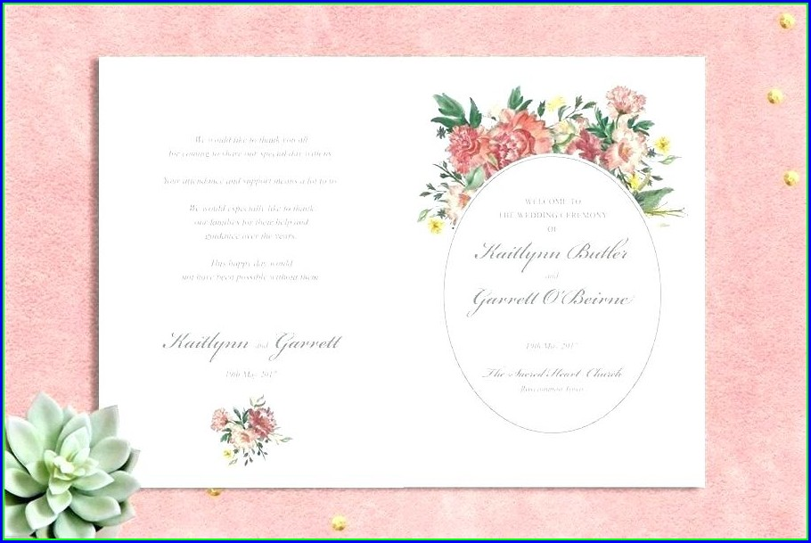 Wedding Ceremony Scroll Template