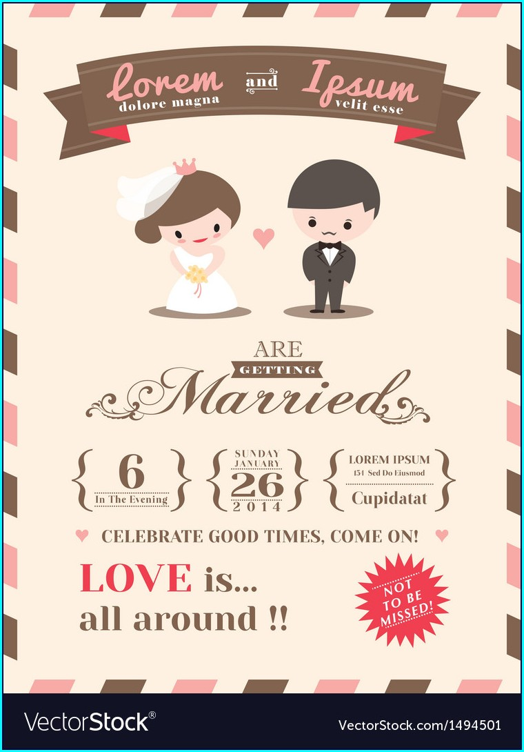 Wedding Invitation Card Free Template
