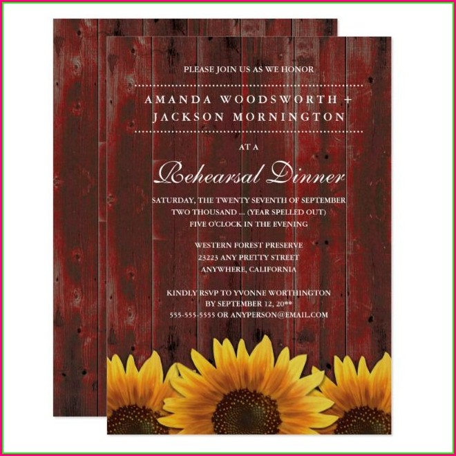 Wedding Rehearsal Invitations Templates