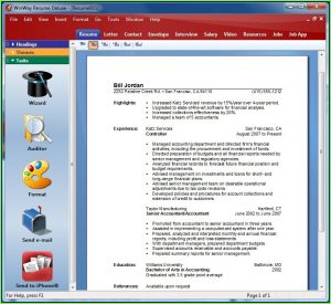 Winway Resume Deluxe 14 Trial