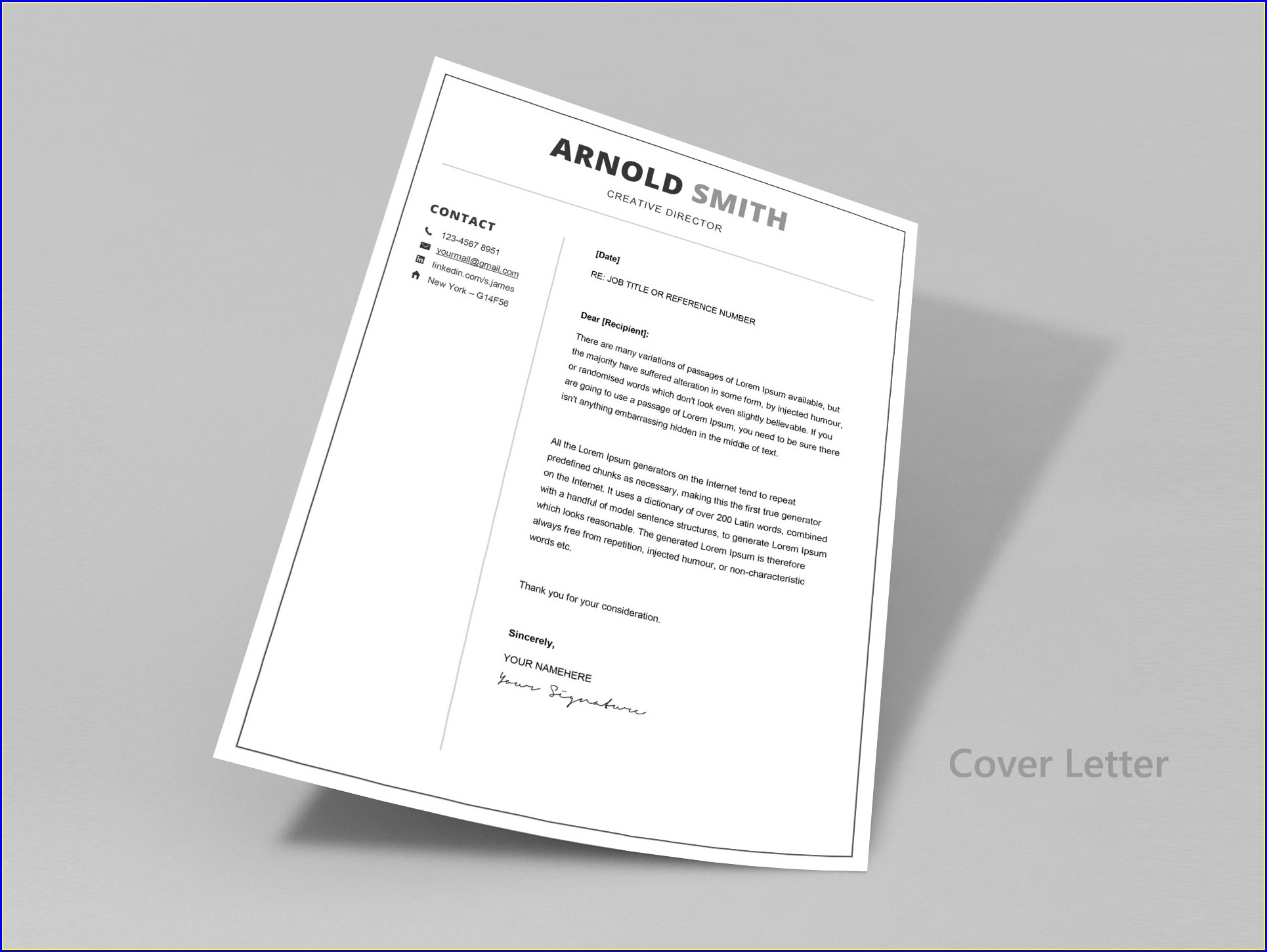 Word Document 2 Page Resume Template Free
