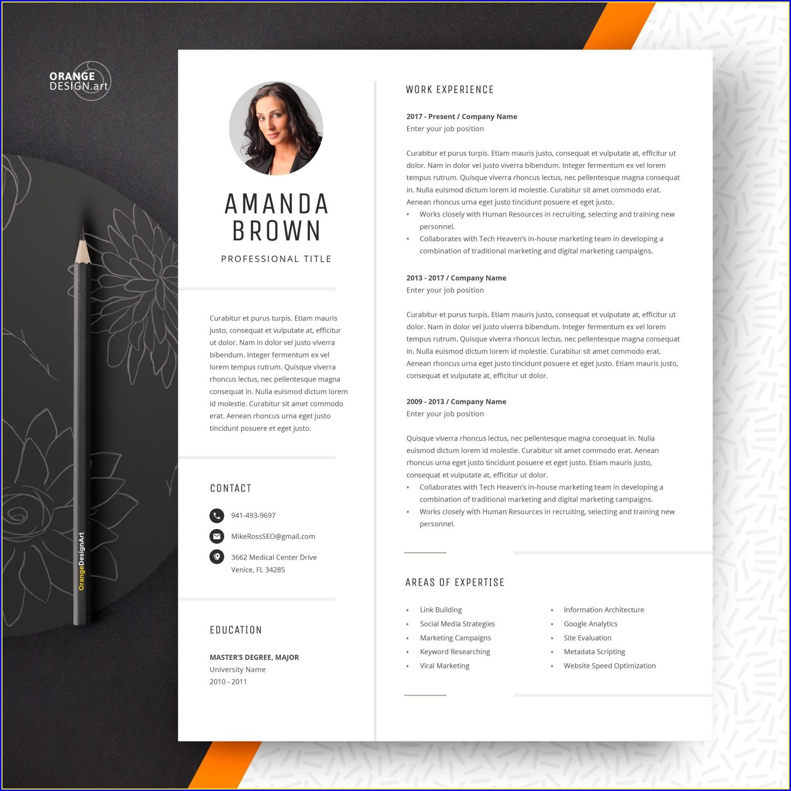 Word Document One Page Resume Template Word Free