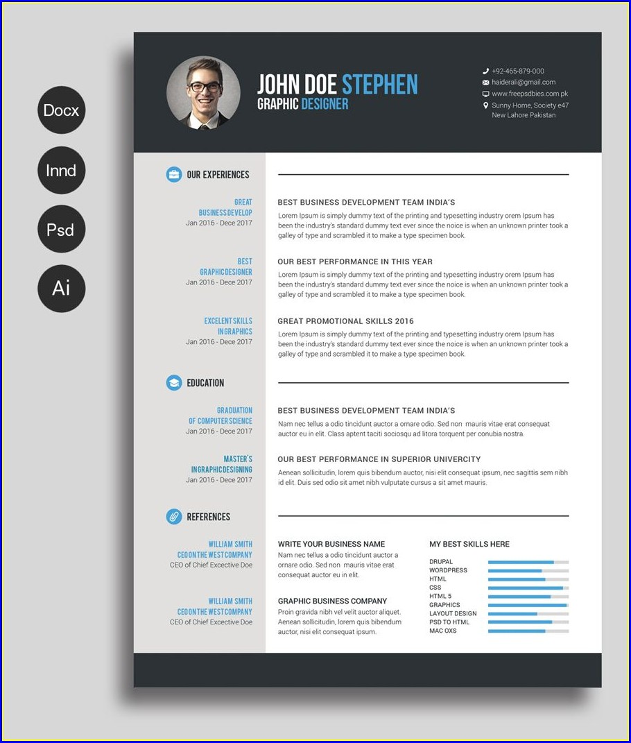 Word Document Printable Cv Template Free