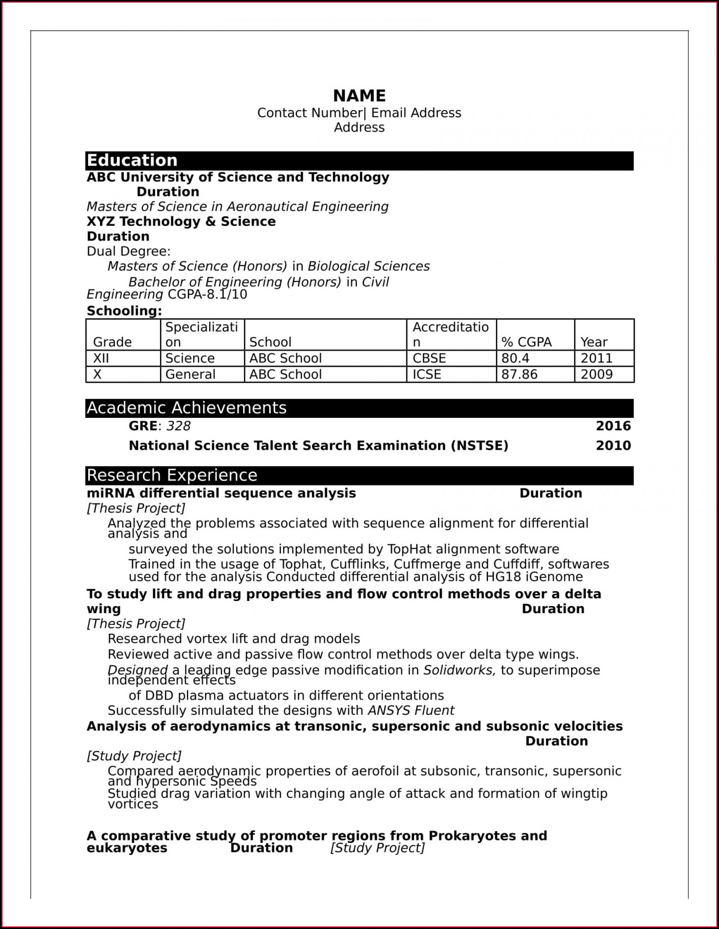 Word Document Resume Format In Word Free Download
