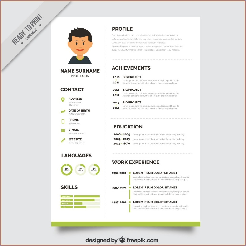 Word Document Resume Template Free Download Word