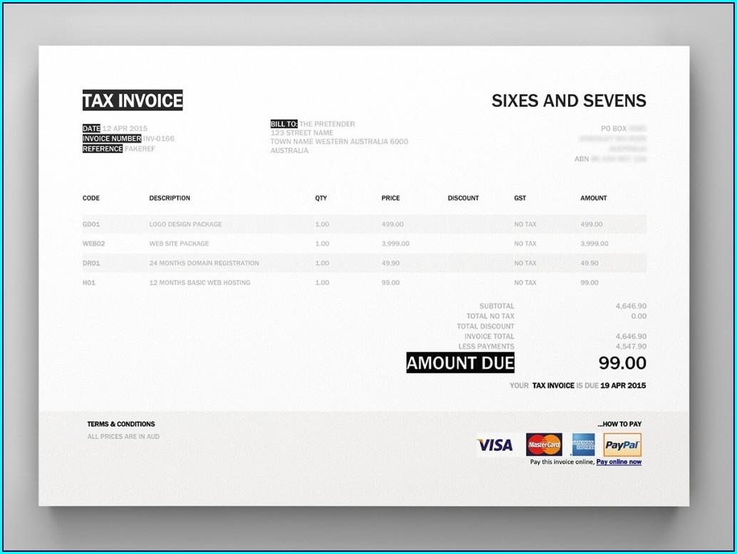 Xero Invoice Templates Docx