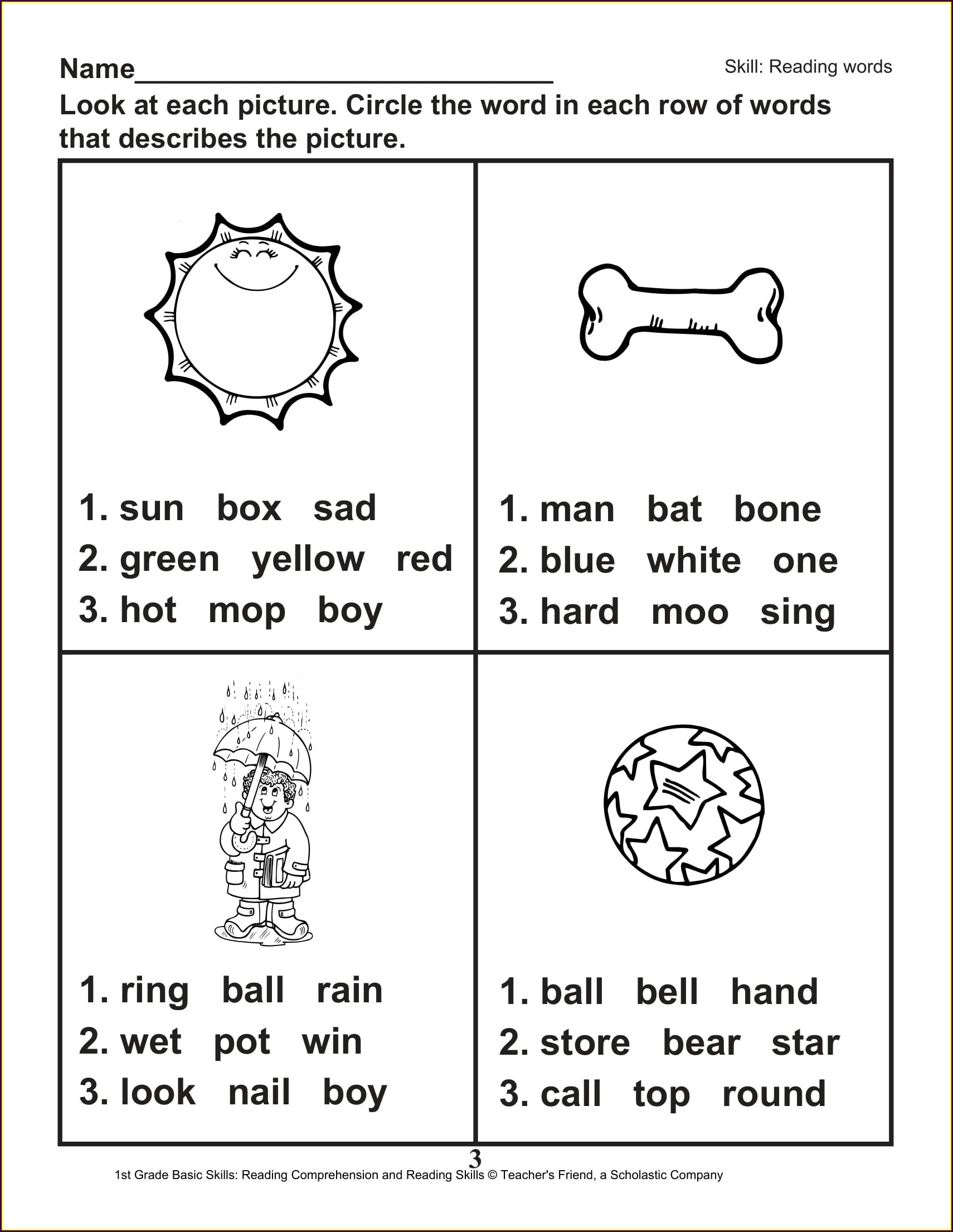 1st Grade Social Studies Printable Worksheets