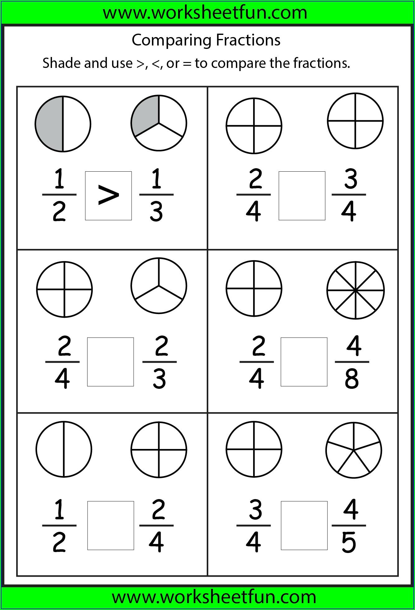2nd Grade Fractions Worksheets Pdf