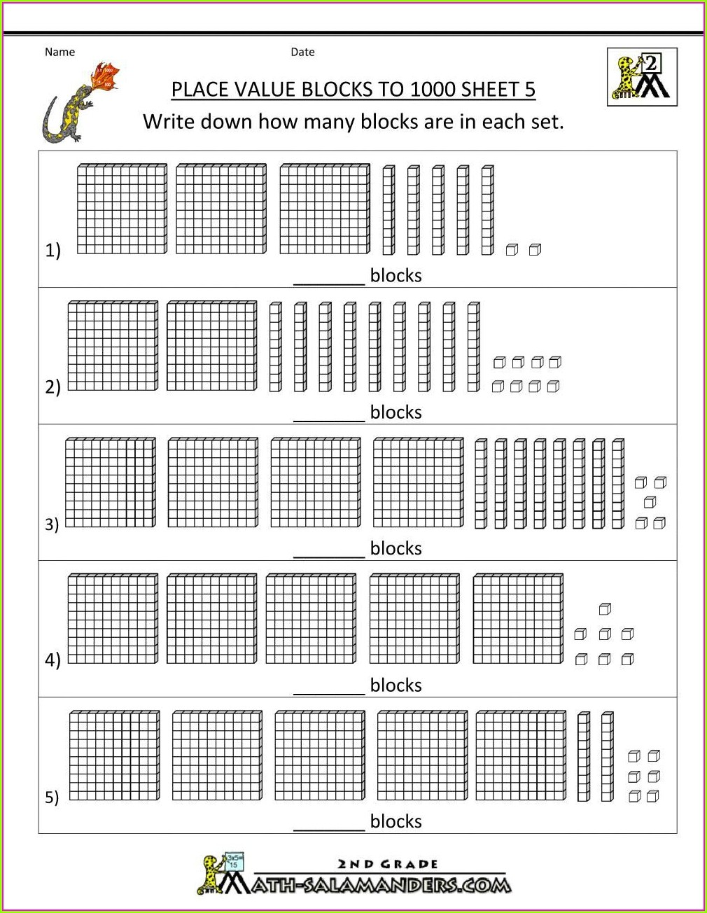 2nd Grade Free Place Value Worksheets