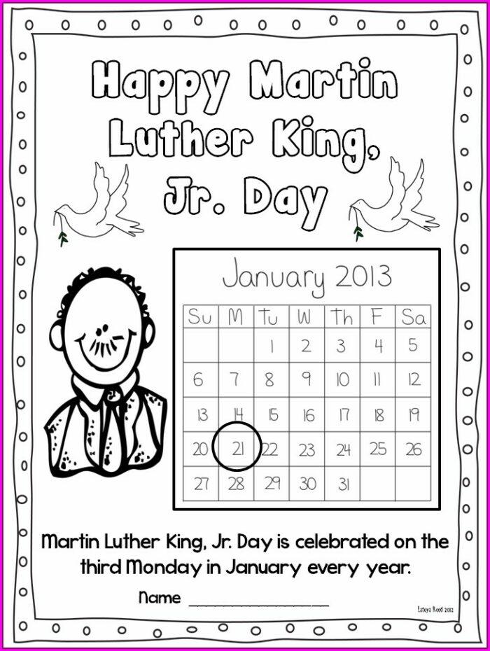 2nd Grade Martin Luther King Jr Worksheets For Kids