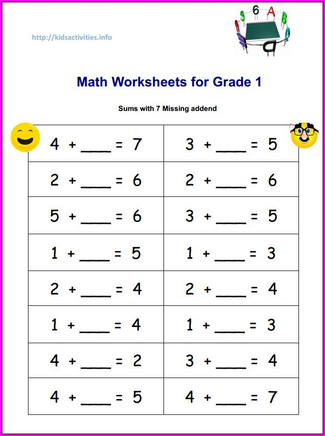 2nd Grade Missing Number Addition Worksheets