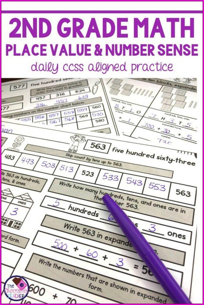2nd Grade Number Sense Worksheets